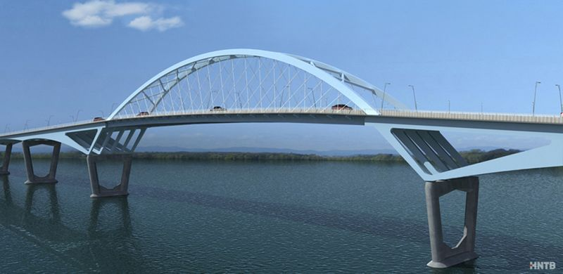 Design for the new Crown Point Bridge