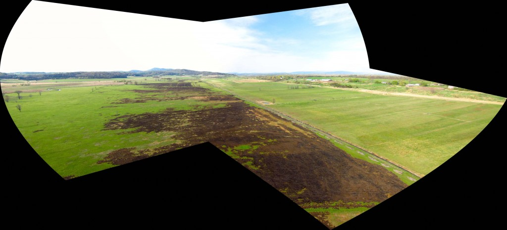 Three of the Oblique photos stitched into a panorama