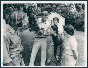 Bill Hilgartner and I are leading a tree walk at Irvine Natural Science Center in 1981. I didn't buy this print.