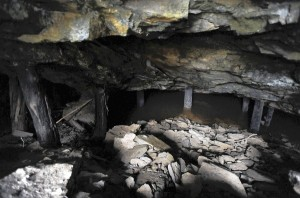 Inside the entrance to the Choate mine.