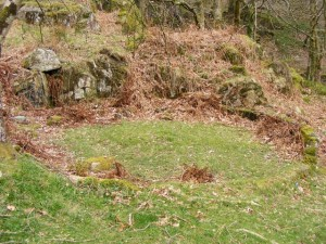 The site of a buddle from the 18th or 19th century in northern Wales.